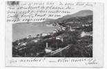 (RECTO / VERSO) MENTON EN 1912 - VUE GENERALE - CARTE SOUPLE - TIMBRE ENLEVE - CPA - Menton