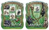 MOZAMBIQUE 2015 ** Monkeys Affen Primaten M/S + S/S - OFFICIAL ISSUE - A1536 - Mono