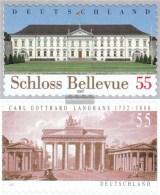 BRD (BR.Deutschland) 2604,2636 (completa.Problema.) Selbstklebende Problemaaben Usato 2007 Bellevue, Brandenburg Tor - Usati