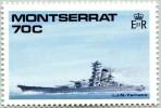 N° Yvert 723 - Timbre De Montserrat (1989) - MNH - Bataille Navale De La 2ème Guerre Mondiale - I.J.N. Yamato (JS) - Montserrat