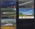 """GERMANIA  5 SCHEDE """" TRENI """" DIFFERENTI USATE - Treni"""