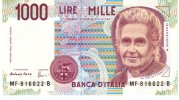 Italy P.114c  1000 Lire 1996  Unc - [ 2] 1946-… : Repubblica