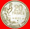 ★COCK: FRANCE★ 20 FRANCS 1951B! G. GUIRAUD! LOW START★ NO RESERVE! - France