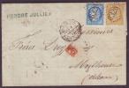 BOUCHES DU RHONE - LAC - Tàd T17 Marseille Place Centrale + GC 6325 Sur N° 60 + N° 59 -> Mulhouse (Alsace Annéxée) - Marcophilie (Lettres)