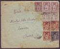 DROME - LSC - Tàd T84 MONTMEYRAN Sur Paire N° 88 + N° 88 + Paire N° 87 + 3 X N° 85 + N° 83 Pour Lausanne (Suisse) - 1876-1898 Sage (Type II)