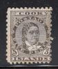 Cook Islands MH Scott #21 5p Queen Makea Takau, Perf 11 - Cook