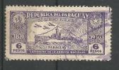 Anniversaire De La Constitution Canonnière 6p Violet - Paraguay