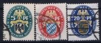 Deutsches Reich: Mi.nr  375 - 377 Used   1925 Nothilfe