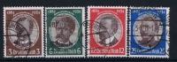 Deutsches Reich: Mi.nr  540 - 543  Used   1934