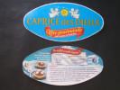 Etiquette Couvercle Fromage CAPRICE DES DIEUX Offre Gourmande + Recette Crumpet Doré - 300g - Fromage