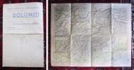 Carta Turistica Di Orientamento Della Regione Delle DOLOMITI. Società Automobilistica Dolomiti - Cortina D.Ampezzo - Carte Geographique
