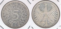 ALEMANIA 5 DEUTSCHE MARK D 1965 PLATA SILVER X - [ 7] 1949-… : RFA - Rep. Fed. Alemana