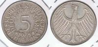 ALEMANIA 5 DEUTSCHE MARK D 1965 PLATA SILVER X2 - [ 7] 1949-… : RFA - Rep. Fed. Alemana