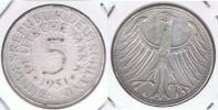 ALEMANIA 5 DEUTSCHE MARK F 1951 PLATA SILVER X - [ 7] 1949-… : RFA - Rep. Fed. Alemana