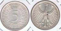 ALEMANIA 5 DEUTSCHE MARK F 1969 PLATA SILVER X - [ 7] 1949-… : RFA - Rep. Fed. Alemana