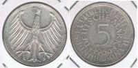 ALEMANIA 5 DEUTSCHE MARK G 1966 PLATA SILVER X - [ 7] 1949-… : RFA - Rep. Fed. Alemana