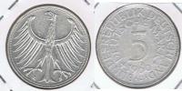 ALEMANIA 5 DEUTSCHE MARK J 1960 PLATA SILVER X - [ 7] 1949-… : RFA - Rep. Fed. Alemana