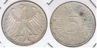ALEMANIA 5 DEUTSCHE MARK J 1966 PLATA SILVER X - [ 7] 1949-… : RFA - Rep. Fed. Alemana