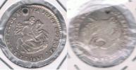 BOLIVIA PAZ  MODULO SOL 1857 AL PRESIDENTE PLATA SILVER X DAÑADO - Bolivia