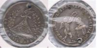 BOLIVIA POTOSI  MODULO SOL 1853 AL PRESIDENTE PLATA SILVER X DAÑADO - Bolivie