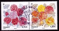 LES ROSES DE LYON La Paire Gommée  Cachet Rond TTB LUXE - Frankreich