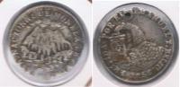 BOLIVIA POTOSI MODULO MEDIO SOL 1853  PLATA SILVER X DAÑADO - Bolivie