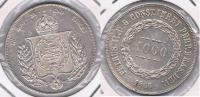 BRASIL  1000 REIS 1866 PLATA SILVER X - Brasil