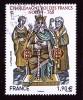 """CHARLEMAGNE ROI DES FRANCS NOYON 768 Issu Du Bloc """"HISTOIRE DE FRANCE"""" Cachet Rond - Usati"""