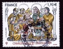 """CHARLEMAGNE ET L´ECOLE 789 Issu Du Bloc """"HISTOIRE DE FRANCE"""" Cachet Rond TTB - Frankreich"""