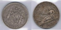 ESPAÑA I REPUBLICA 5  PESETAS 1870  PLATA SILVER X - [ 4] 1939-1947 : Gobierno Nacionalista