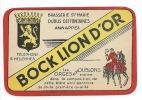 Ancienne Etiquette Bière Bock Lion D'or Brasserie Ste Marie Dubus Defontaines Annappes Nord 59 - Bière