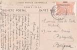 Carte Postale Portugal Monte Estoril Taxe Série Du Grand Hôtel D´Italie Pour La Belgique Bruxelles 1912 - 1910-... Republic