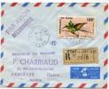 TCHAD LETTRE RECOMMANDEE PAR AVION DEPART FORT-LAMY 5-11-69 TCHAD POUR LA FRANCE - Tchad (1960-...)