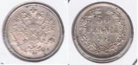 FINLANDIA RUSIA 50 PENNIA 1914 PLATA SILVER X PRECIOSA - Finlandia