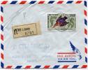 TCHAD LETTRE RECOMMANDEE PAR AVION DEPART FORT-LAMY 24-12-66 TCHAD POUR LA FRANCE - Tsjaad (1960-...)