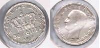 GRECIA 50 LEPTA 1874 A PLATA SILVER X - Finlandia