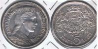 LETONIA 5 LATI 1932 PLATA SILVER X - Lituania