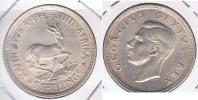 SUDAFRICA SUID AFRIKA 5 SHILLING 1949 PLATA SILVER X - Sudáfrica