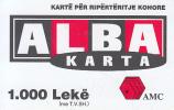ALBANIA - ALBA Karta, AMC Prepaid Card 1000 Leke, Exp.date 29/07/05, Used - Albanie