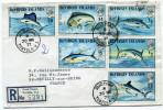 ILES VIERGES BRITANNIQUES LETTRE RECOMMANDEE DEPART ROAD TOWN 30 MR 73 TORTOLA POUR LA FRANCE - British Virgin Islands