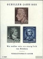 DDR Block 12 (completa Edizione) MNH 1955 Federico Schiller - Blocks & Sheetlets