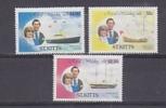 St. Kitts 1983 Royal Wedding 3v ** Mnh (25137) - St.Kitts En Nevis ( 1983-...)