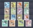 HONG KONG SERIE 16v 2006 DEFINITIVES BIRDS OISEAUX KINGFISHER OWL HIBOU EAGLE PELICAN MAGPIE EGRET SPOONBILL TERN * MNH - 1997-... Speciale Bestuurlijke Regio Van China