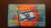 Israel/france-BON GOUT Israel-used Card+2 Card Prepiad Free - Israel