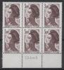 FRANCE - YT N° 2243a X6 - Sans Phosphore - Neufs ** - MNH - Cote: 180,00 € - Varieties: 1980-89 Mint/hinged