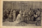 Ricordo Di Guglielmo II In Italia - Arrivodell'imperatore Nel Palazzo Del Quirinale Ed Incontro Con S.m. La Regina D'ita - Litografia