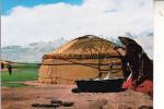 AFGHANISTAN - Pamir, Kirgis Woman Making Curd - Afghanistan