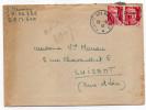 1947--Paire Horizontale Marianne De Gandon 3f Rose Carminé Sur Lettre-cachet Postes Aux Armées 29-8-47 Pour Luisant -28 - Postmark Collection (Covers)
