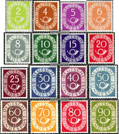 FRD (FR.Germany) 123-138 (complete Issue) Tested Unmounted Mint / Never Hinged 1951 Horn - Unused Stamps