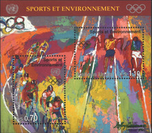 UN - Geneva Block8 (complete Issue) Unmounted Mint / Never Hinged 1996 Sports And Environment - Geneva - United Nations Office